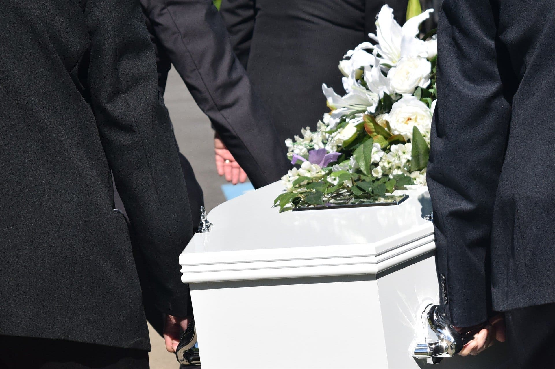 casket being carried