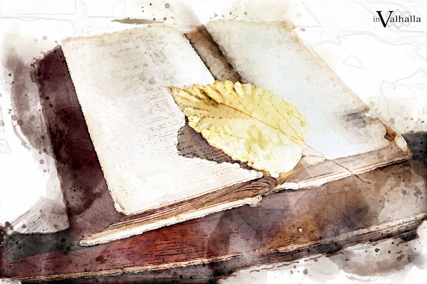 Bible with leaf